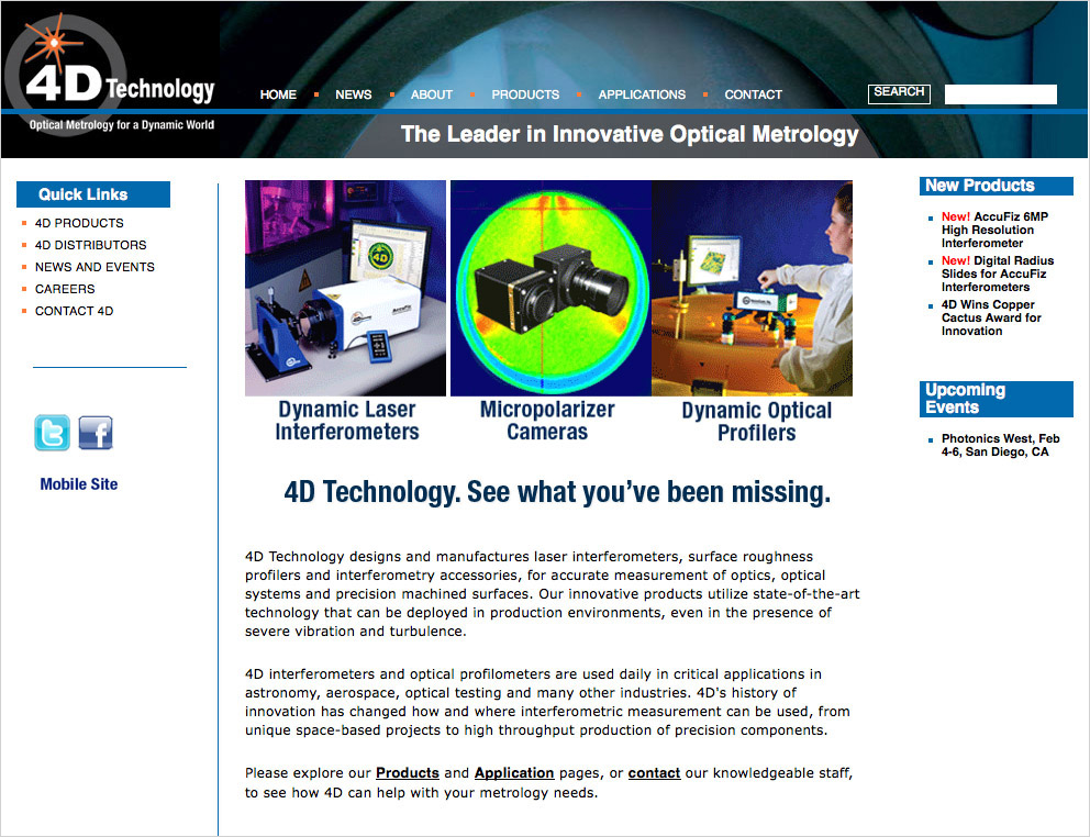 4D Technology Home Page