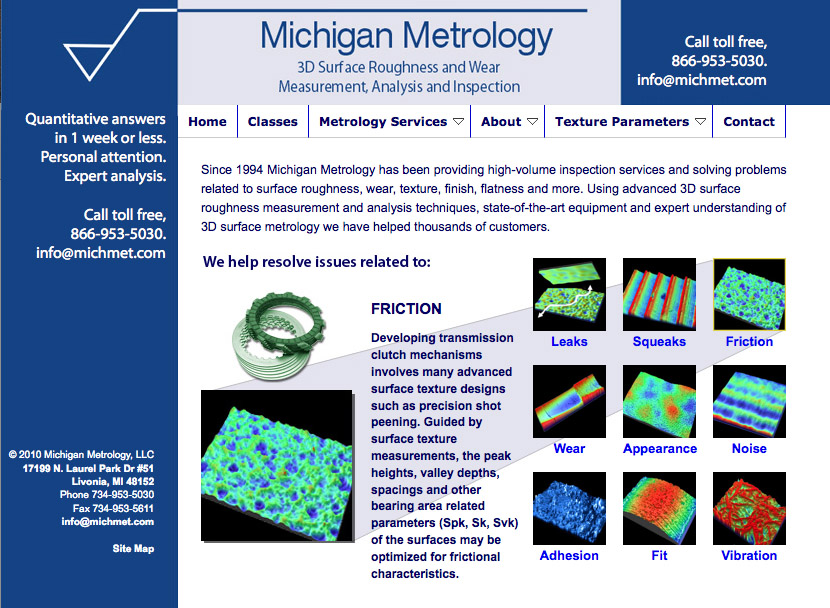 Image: Michigan Metrology Web Site